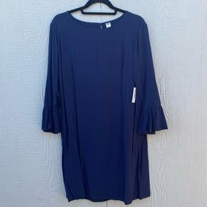 Navy Old Navy Dress with Ruffled Long Sleeves